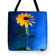 Sunflower And The Wind Spirit Tote Bag