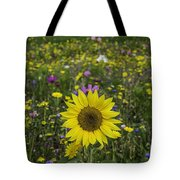 Sunflower And Wildflowers Tote Bag