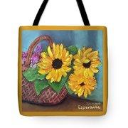 Sunflower Basket Tote Bag