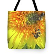 Sunflower Bees Tote Bag