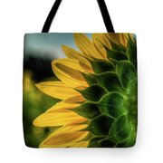 Sunflower Blooming Detailed Tote Bag by Dennis Dame