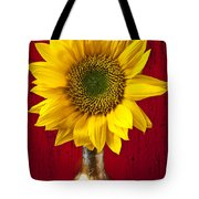 Sunflower Close Up Tote Bag