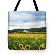 Sunflower Country Landscape  Tote Bag