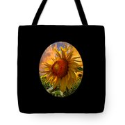 Sunflower Dawn In Oval Tote Bag