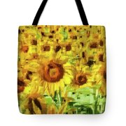 Sunflower Edges Tote Bag