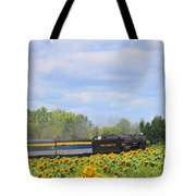 Sunflower Express Tote Bag