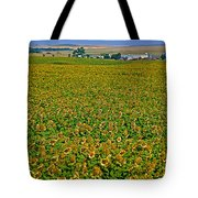 Sunflower Farm In Northwest North Dakota  Tote Bag