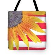 Sunflower Flag Tote Bag