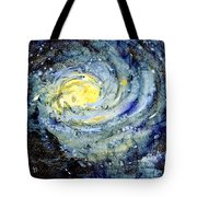 Sunflower Galaxy Tote Bag