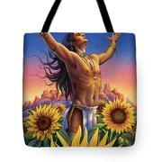 Sunflower - Glorious Success Tote Bag by Anne Wertheim