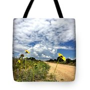 Sunflower Hitchhikers Tote Bag
