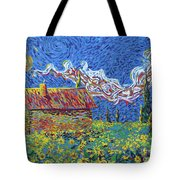 Sunflower House Tote Bag