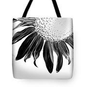 Sunflower In Corner Bw Threshold Tote Bag