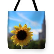 Sunflower In Providence Tote Bag