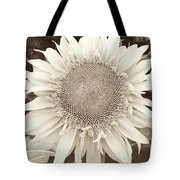 Sunflower In Soft Sepia Tote Bag