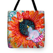 Sunflower In The Middle Tote Bag