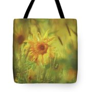Sunflower In The Wind Painting Tote Bag