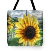 Sunflower In Town Tote Bag
