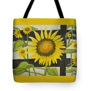 Sunflower In Your Face Tote Bag
