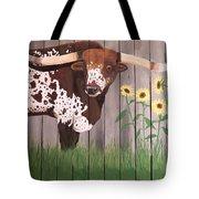 Sunflower Longhorn Tote Bag