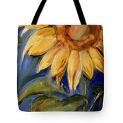 Sunflower Oil Painting Tote Bag