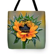 Sunflower Opens Tote Bag