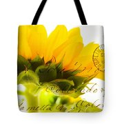 Sunflower Postcard Tote Bag
