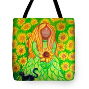 Sunflower Princess Tote Bag