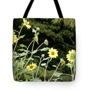 Sunflower Sea Of Happiness Tote Bag