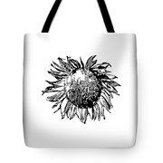 Sunflower Silhouette Tote Bag