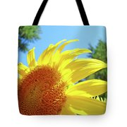 Sunflower Sunlit Art Print Canvas Sun Flowers Baslee Troutman Tote Bag