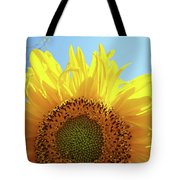 Sunflower Sunlit Sun Flowers Giclee Art Prints Baslee Troutman Tote Bag