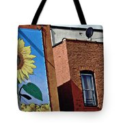 Sunflower Town Tote Bag