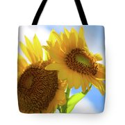 Sunflower Twins Tote Bag