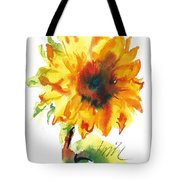 Sunflower With Blues Tote Bag