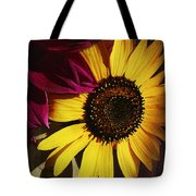 Sunflower With Dahlia Tote Bag