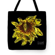 Sunflower With Stone Effect Tote Bag