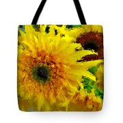 Sunflowers - Light And Dark Tote Bag
