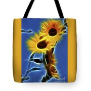 Sunflowers-4969-fractal Tote Bag