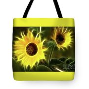 Sunflowers-5052-fractal Tote Bag