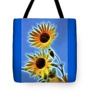 Sunflowers-5246-fractal Tote Bag