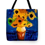 Sunflowers After Vincent Van Gogh Tote Bag