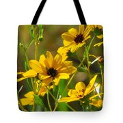 Sunflowers Along The Trail Tote Bag