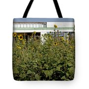 Sunflowers And Abandoned Gas Station Tote Bag