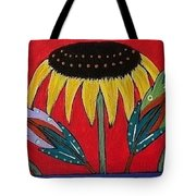 Sunflowers And Feathers Tote Bag