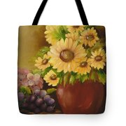 Sunflowers And Grapes Tote Bag