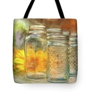 Sunflowers And Jars Tote Bag