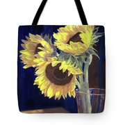Sunflowers And Light Tote Bag