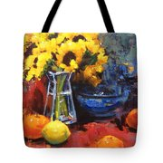 Sunflowers And Oranges Tote Bag