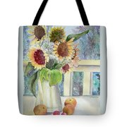 Sunflowers And Peaches Tote Bag